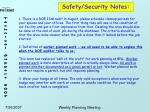 safety security notes