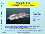 where to find phenix technical info