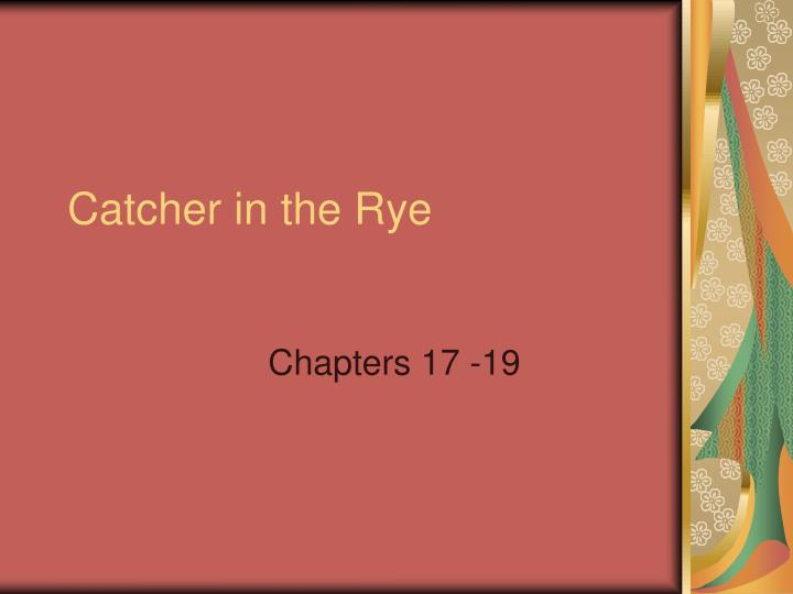 catcher in the rye n.