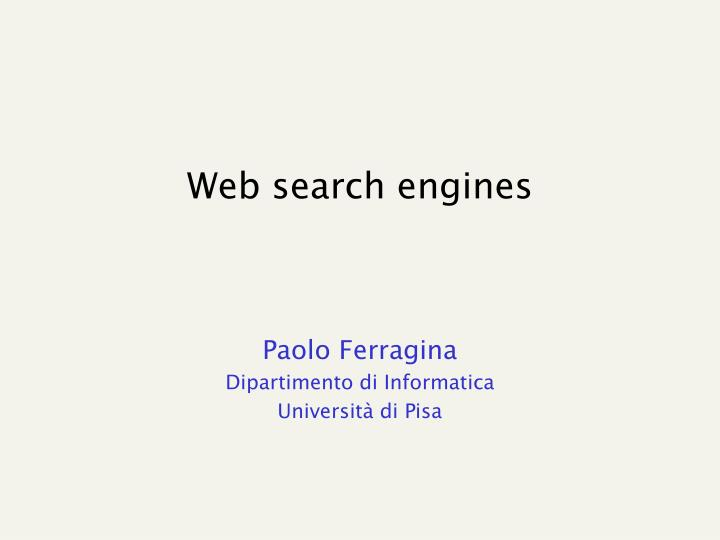 web search engines n.
