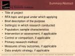 summary abstract