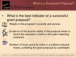 what is a successful proposal
