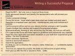 writing a successful proposal