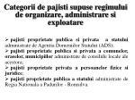 categorii de pajisti supuse regimului de organizare administrare si exploatare