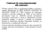 contracte de concesiune arenda alte contracte
