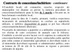 contracte de concesiune inchiriere continuare