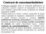 contracte de concesiune inchiriere