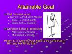 attainable goal