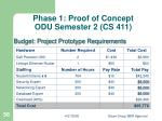 phase 1 proof of concept odu semester 2 cs 411
