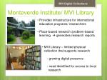 monteverde institute mvi library