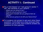 activity 1 continued