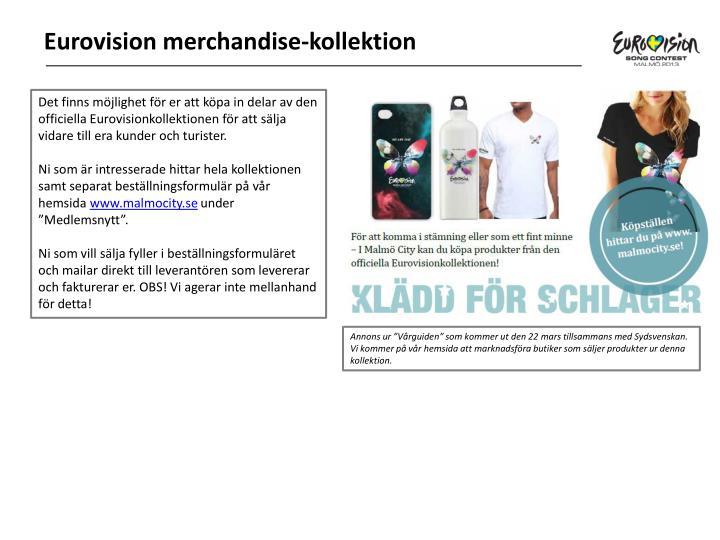 Eurovision merchandise-kollektion