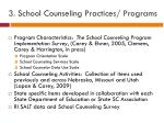 3 school counseling practices programs