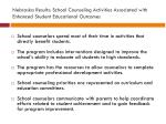 nebraska results school counseling activities associated with enhanced student educational outcomes1