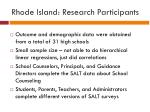 rhode island research participants