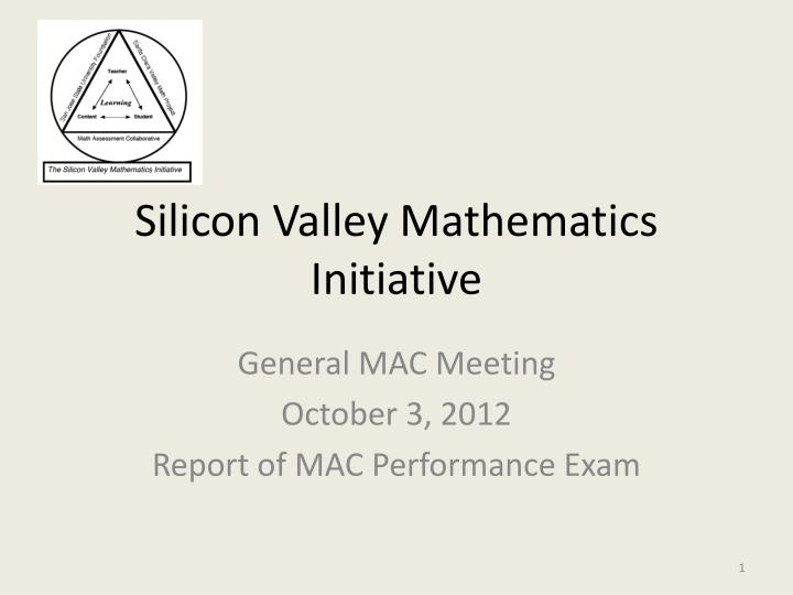 silicon valley mathematics initiative n.