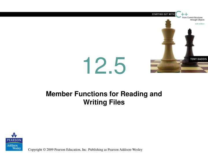 member functions for reading and writing files n.