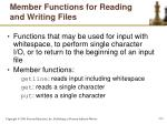 member functions for reading and writing files1