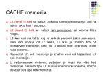 cache memorija