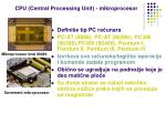 cpu central processing unit mikroprocesor