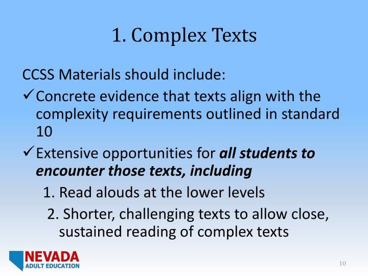 1. Complex Texts