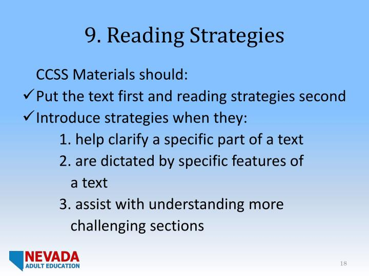 9. Reading Strategies