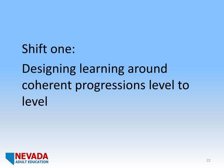 Shift one: