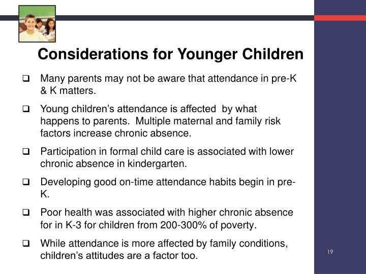 Considerations for Younger Children