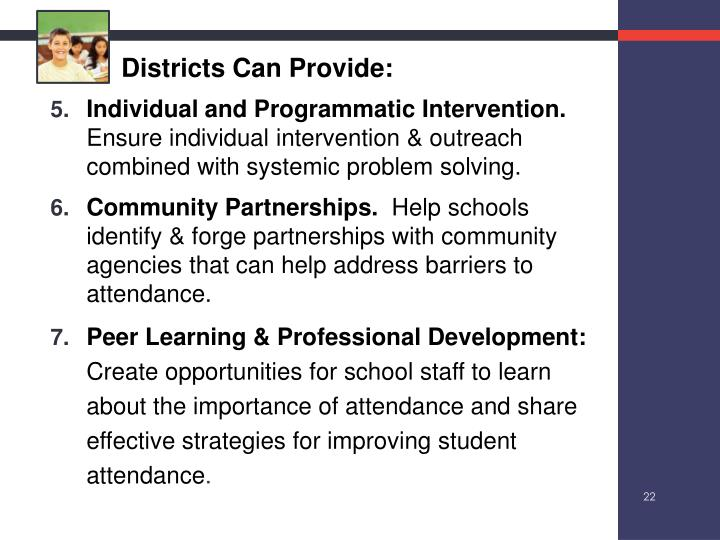 Districts Can Provide: