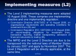 implementing measures l2