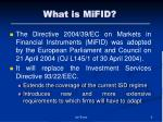 what is mifid
