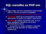 sql naredbe sa php om