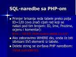 sql naredbe sa php om5
