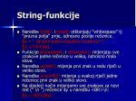 string funkcije