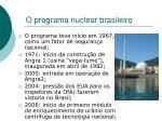 o programa nuclear brasileiro