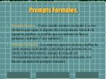 prompts formales