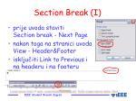 section break i