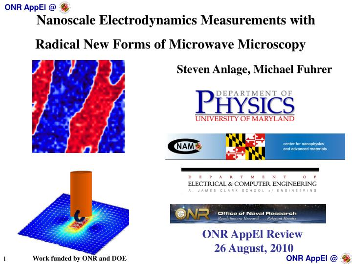 nanoscale electrodynamics measurements with radical new forms of microwave microscopy n.