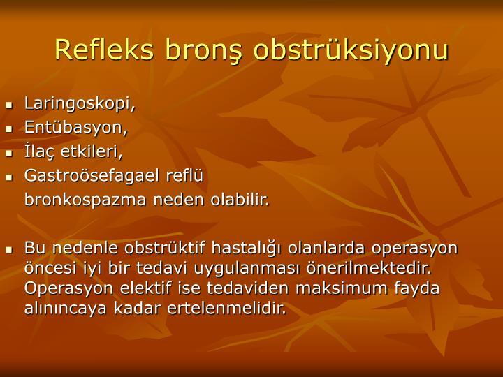 Refleks bronş obstrüksiyonu