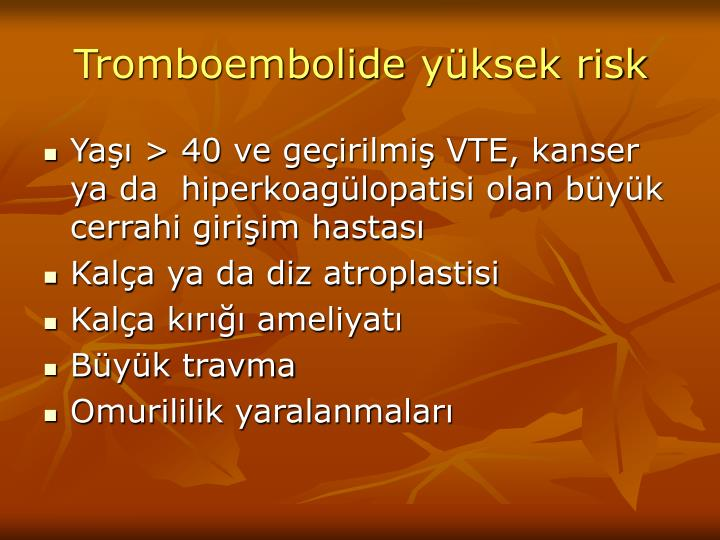 Tromboembolide
