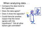 when analyzing data