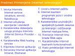p redmet primenjene internet tehnologije