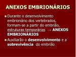 anexos embrion rios