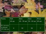material si metoda1