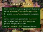 material si metoda2
