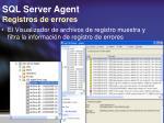 sql server agent registros de errores