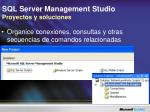 sql server management studio proyectos y soluciones