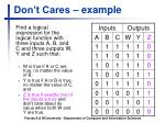 don t cares example3