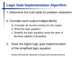 logic gate implementation algorithm