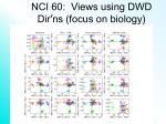 nci 60 views using dwd dir ns focus on biology